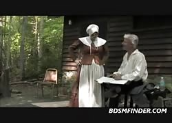 Puritan wife Spanked Outdoors Thumb
