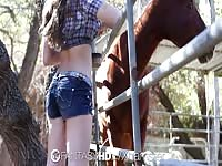 HD FantasyHD - Cowgirl Dani Daniels rails  dick at the farm Thumb