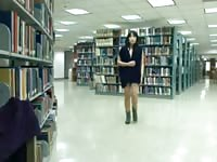 asian lady getting naked on webcam in public library pt. 2 Thumb