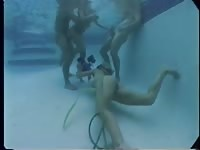 Filming stupid Underwater 3some! Thumb
