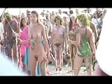 chicks with painted bods  in Russian nudist beach Thumb