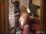 yellow-haired fetish slut spanked with passion Thumb