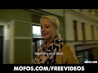 lovely blondy Czech student is paid for sex in public Thumb