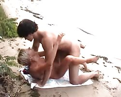 Slim Russian nudist fucked at beach Thumb