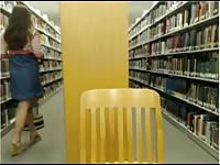 pumping out  in public library Thumb