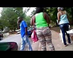 Leggins blk woman with azz Thumb