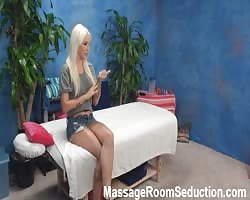 hot yellow-haired Seduced by rubdown Thumb