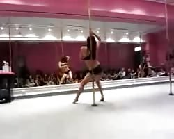 Daughter pole dance, nonporn Thumb