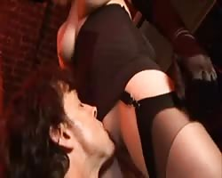 British whore Alexandra gets plowed in a FMMM foursome Thumb