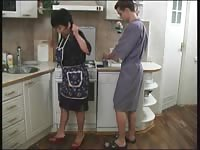 broken Mom and her BF in the kitchen! Russian fledgling ! Thumb