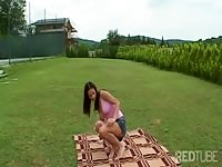 Green grass and pink twat Thumb