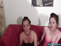 Bukkake party for wonderful UK girls Chantelle Fox and Kitse Thumb