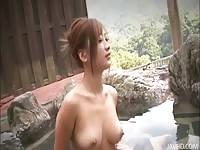 delicate and attractive Aika outside zigzag over her honeypot  toyed Thumb