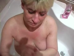 Blowjob titty fuck and cumshot for blond mature Thumb