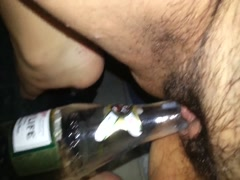 Hairy pussy fucking beer bottle Thumb