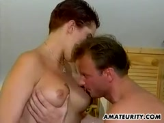 Homemade amateur anal threesome with busty girl and facial s Thumb