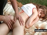 Beatas tight bootie gap finger taunted slow outdoor Thumb