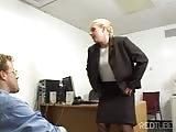 inappropriate lady boss seducing employee Thumb