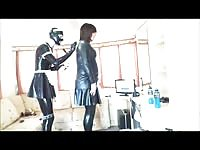 Rubberkate grinds tiresome her ts Mistress Thumb