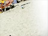 Topless Beach woman with thong Gran Canaria Thumb