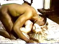 blondy white wifey  with dismal stud - Homemade Interracial Cuckold Vintage Thumb