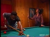 black  couple chooses  drilling to billiards Thumb