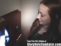 teenage  Christine deep sucking complete Strangers At A Tampa Gloryhole Thumb