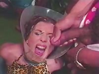 fantastic short-haired chick bukkaked in a funnel Thumb