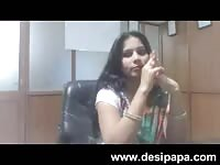 indian bhabhi hook-up insensible bigtits deep-throated by her boss in cabin mms Thumb
