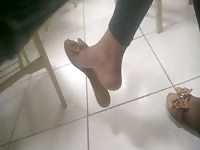 impersonal hanging ebony foot in college faceshot - Feet 38 Thumb