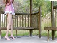 Japanese Crossdresser Fem Boi Pai-chan is Pink French Maid Thumb