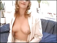 big-titted blonde makes a porn Thumb