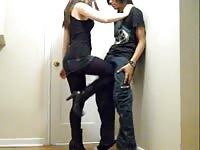 Ballbusting - teen brutal quickly Kneeing! Thumb