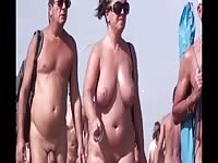 French naturist  beach Cap d'Agde people walking nude 3 Thumb