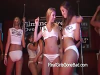 organized super hot COLLEGE damsels  unwrapping  ON STAGE FOR A wet T-SHIRT CONTE Thumb