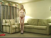 sparkling youthful blondie with perky knockers spreads her vulva and rails  a sybian Thumb