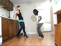 Ballbusting - teenage  Alternating Kicks & Knees to the ball sack Thumb