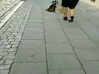 impersonal #105 female in leather skirt and high heels Thumb