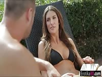 big-titted teenage expressionless August Ames gives ex another try and makes passionate cherish Thumb