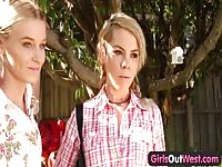 damsels  Out West - skinny yellow-haired lesbians Thumb