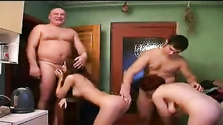Real Father Mother Daughter and Son orgy Hidden Cam Thumb