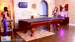 Wild! Teen girl beauties cum on ping pong table! Rilee Marks MaryJane Thumb