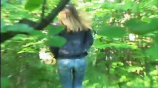 Amateur movie of my public peeing girl in the public toilet Thumb