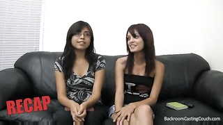 Cute casting couch session with two girls Thumb