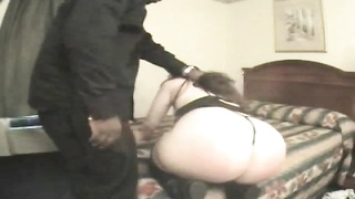 He spanks her fat ass and fucks her Thumb