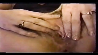 Crazy huge dildo fucking her amateur hole Thumb