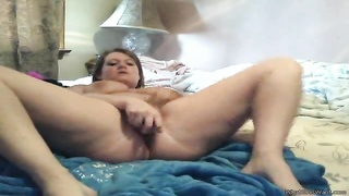 Chubby amateur pounds pussy with a toy Thumb