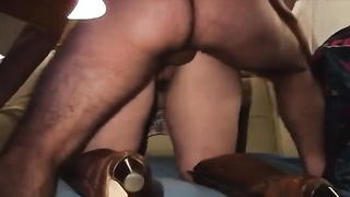 Amateur in boots fucked from behind Thumb