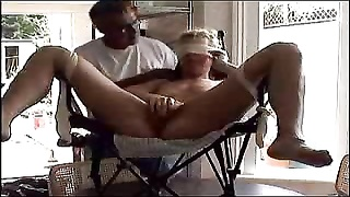 Tied amateur in chair has pussy toyed Thumb