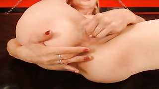 Finger in ass, fist in pussy on this Milf Thumb
